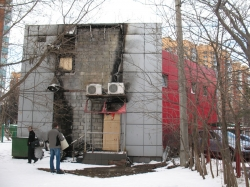 Appraisal of damage to the building after a fire (shopping center)